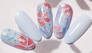 春粉螺鈿櫻花 |專業美甲|沙龍應用|NLT教學部|異素材|傳統工藝|螺鈿|素材應用|教學