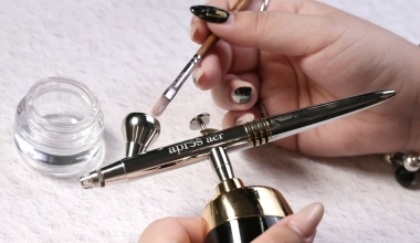 APRÉS噴槍-基本清潔 |專業美甲|沙龍應用|沙龍彩繪設計|噴槍|教學