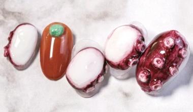 #章魚粉雕 |專業美甲|沙龍應用|台灣老師|粉雕|菲菲|食物|動物|教學影片