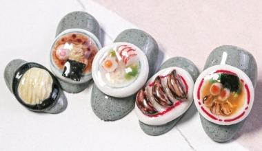 #拉麵粉雕 |專業美甲|沙龍應用|台灣老師|粉雕|菲菲|食物|和風|教學