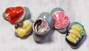 #鴛鴦麻辣鍋粉雕 |專業美甲|沙龍應用|台灣老師|粉雕|菲菲|食物|教學